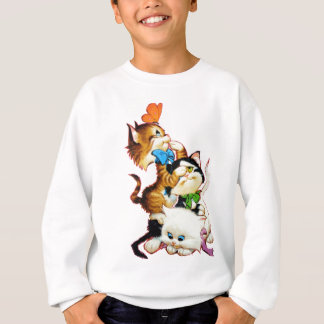 kittens playing sweatshirt