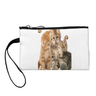 Kittens playing t-shirts coin wallet