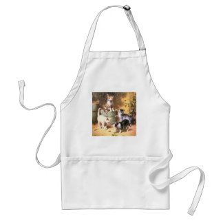 """""""Kittens Playing with Beetles"""" Apron"""