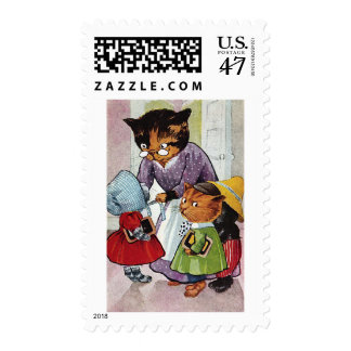 Kittens Ready for School Postage