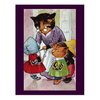 Kittens Ready for School Postcard