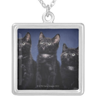 Kittens Silver Plated Necklace
