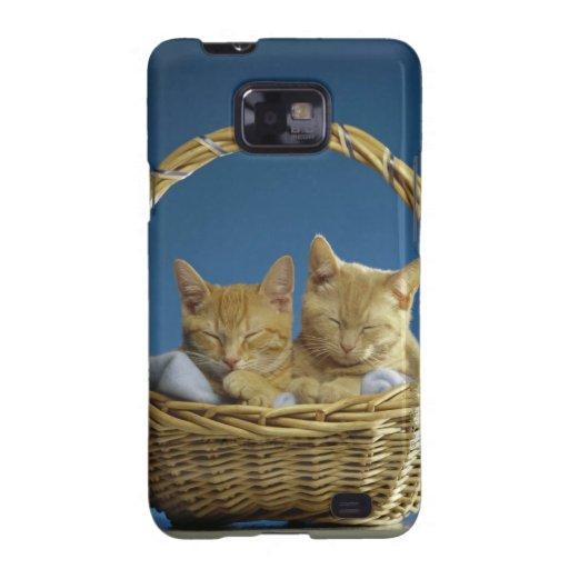 Kittens sleeping in basket galaxy s2 case