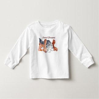 Kitten's Teddy Bear Pillow Toddler T-shirt
