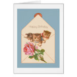 Kittens Vintage Birthday Greeting Card