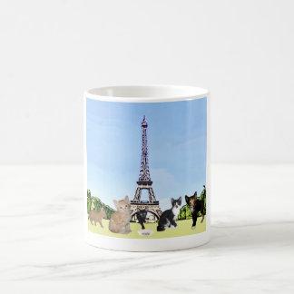 Kittens waiting to eat in Paris Mug