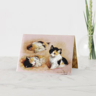 KITTENS Waking up Card