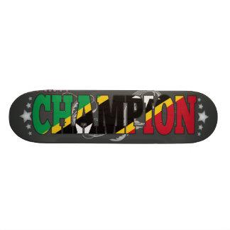 Kittian and a Champion Skateboard Deck