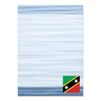 "Kittian Flag Floating on water 5"" X 7"" Invitation Card"