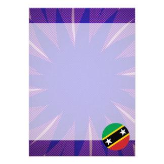 """Kittian Flag Souvenir 5"""" X 7"""" Invitation Card"""