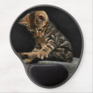 Kittie en un mousepad alfombrilla con gel