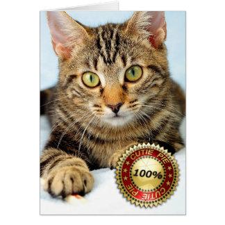 Kittie lindo - tarjeta de felicitación