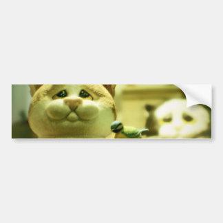 kitties and birdies bumper sticker