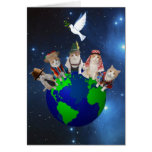 Kitties Around the World Greeting Card