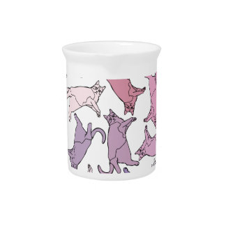 Kitties everywhere! beverage pitcher