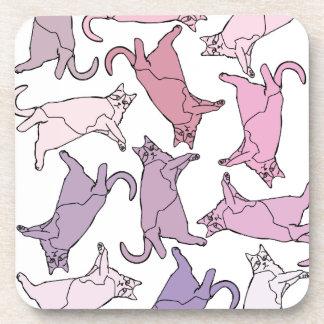 Kitties everywhere! drink coaster