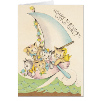 Kitties in a Boat Greeting Card
