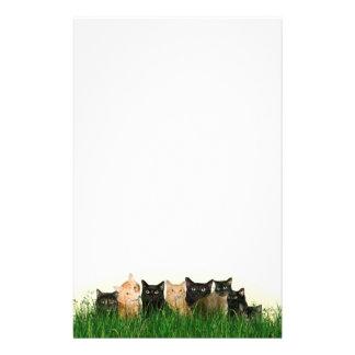 Kitties in grass stationery