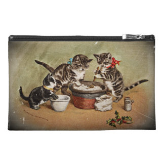 Kitties Making Christmas Pudding Travel Accessories Bag