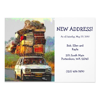 Kitties on the Move Address Change Card Template Personalized Invite