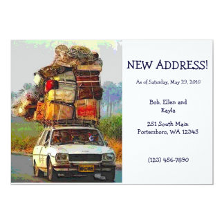 "Kitties on the Move Address Change Card Template 5"" X 7"" Invitation Card"