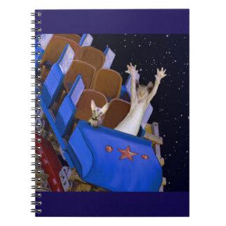 Kitties on the roller coaster notebook