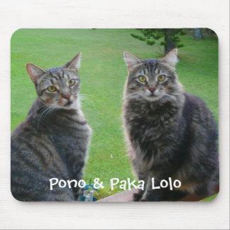 Kitties  Pono & Paka Lolo Mouse Pad