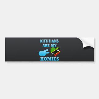 Kittitians es mi Homies Pegatina Para Auto
