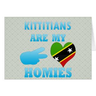 Kittitians es mi Homies Tarjeta De Felicitación