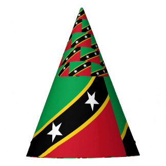 Kitts and Nevis Flag Party Hat