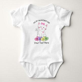 Kitty 1st Valentine's Day Baby Bodysuit