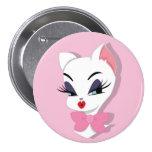 Kitty 3 inch Button
