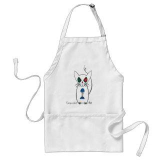 kitty adult apron