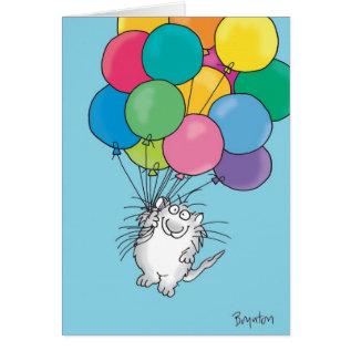 Kitty Aloft Birthday Card at Zazzle