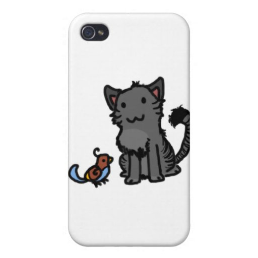 Kitty and Birdie Covers For iPhone 4