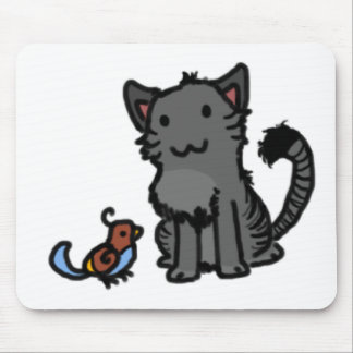 Kitty and Birdie Mouse Pad