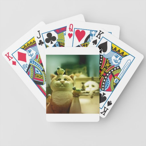 Kitty and birds bicycle poker cards