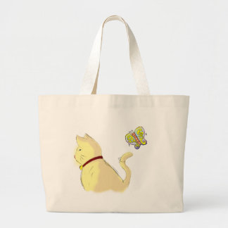 Kitty and Butterfly the Tote Bag