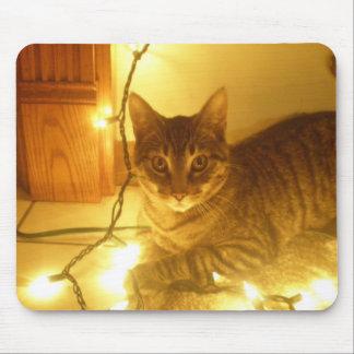 Kitty and Christmas Mouse Pad