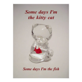 Kitty and Fish poster