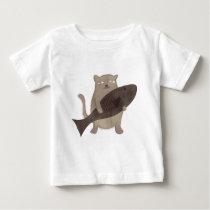 Kitty and His Fish Baby T-Shirt