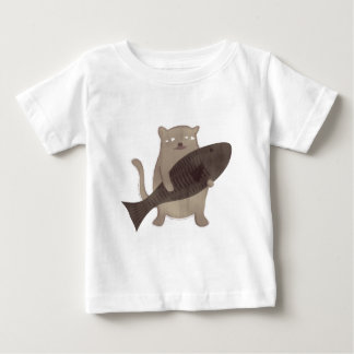 Kitty and His Fish Baby T-Shirt