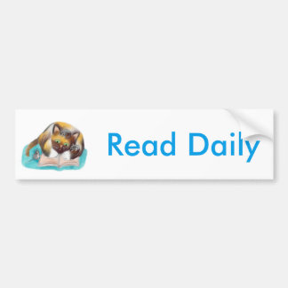 Kitty and Mice are Bookworms Car Bumper Sticker