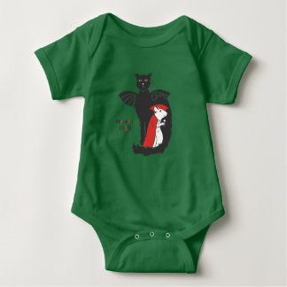 Kitty and mouse vampires baby bodysuit