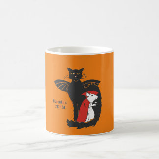 Kitty and mouse vampires coffee mug