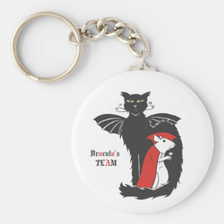 Kitty and mouse vampires keychain