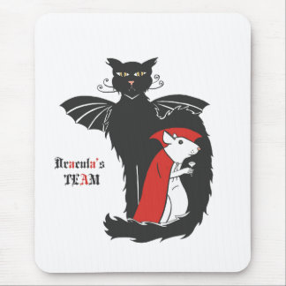 Kitty and mouse vampires mouse pad