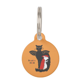 Kitty and mouse vampires pet name tag