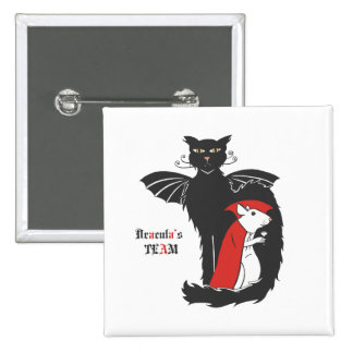 Kitty and mouse vampires pinback button