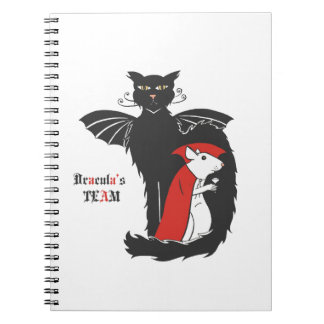 Kitty and mouse vampires spiral notebook
